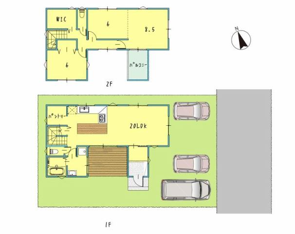 有限会社グローバル住宅 間取り 香南市野市町西野 新築住宅 3LDKの間取り