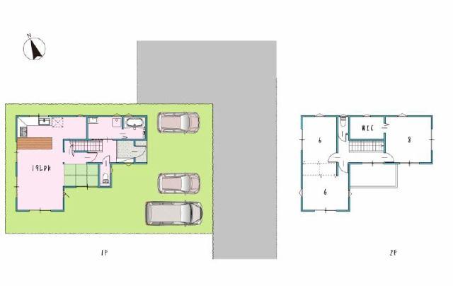 有限会社グローバル住宅 間取り 香南市野市町西野 新築住宅 3号 3LDKの間取り