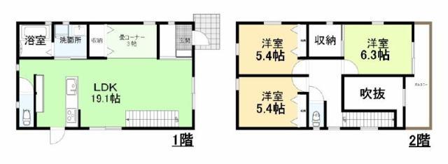 有限会社グローバル住宅 間取り 高知市瀬戸西町 新築一戸建て 4LDKの間取り