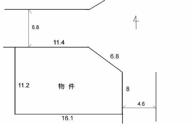 有限会社グローバル住宅 区画図 高知市介良 売り土地 約55坪の区画図