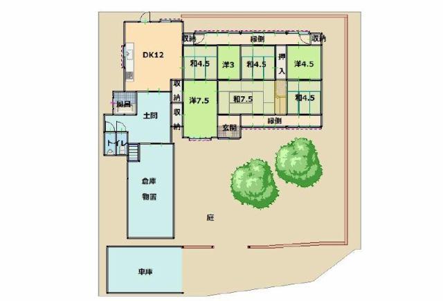 有限会社グローバル住宅 間取り 高知市春野町芳原 田舎暮らしに最適の環境の間取り