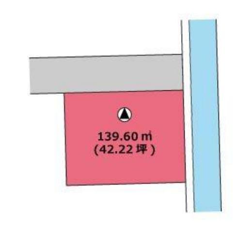 有限会社グローバル住宅 区画図 高知市中万々 売り土地 約42坪の区画図