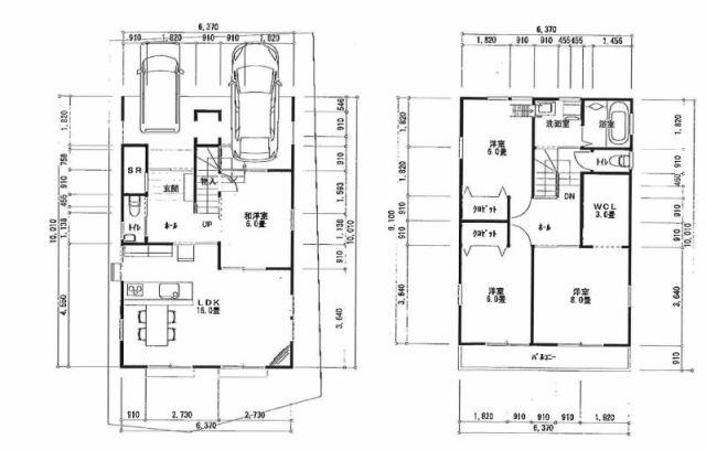 有限会社グローバル住宅 間取り 高知市鏡川町 新築一戸建て 4LDKの間取り
