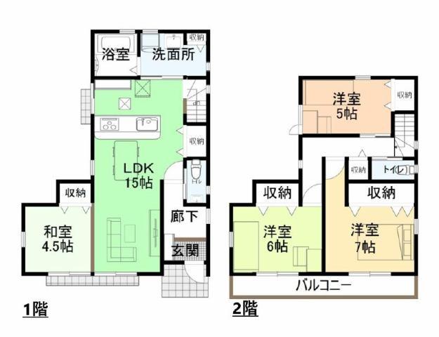 有限会社グローバル住宅 間取り 高知市孕西町 新築一戸建て 3LDKの間取り