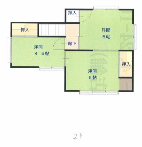 有限会社グローバル住宅 区画図 高知市神田 中古住宅 5DKの区画図