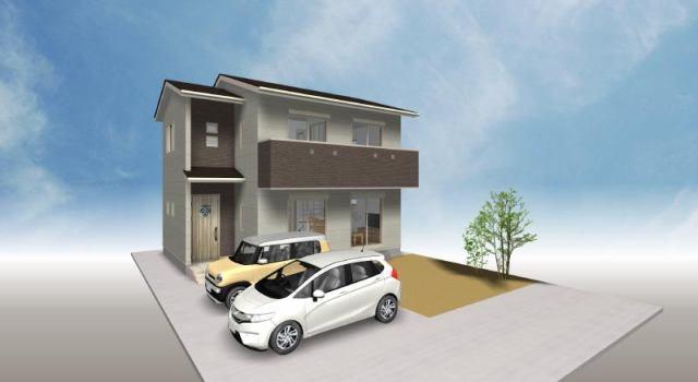 有限会社グローバル住宅 外観写真 フジグラン高知近く 新築住宅 4LDK 駐車4台 庭の外観写真