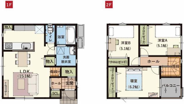 有限会社グローバル住宅 間取り 高知市桟橋通 新築一戸建て オール電化 3LDKの間取り