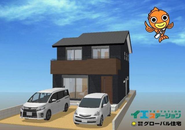 有限会社グローバル住宅 外観写真 高知市介良乙 新築住宅 オール電化 4LDKの外観写真