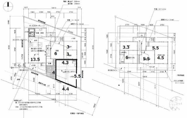 有限会社グローバル住宅 区画図 高知市昭和町 駅近くエレベーター付き便利な中古住宅の区画図