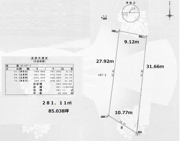 有限会社グローバル住宅 区画図 春野町弘岡上 田園風景陽当たり良好の土地の区画図
