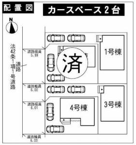 株式会社エールエステート(不動産業) 区画図 配置図(3号棟)