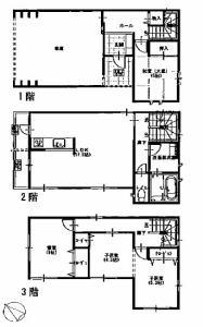 株式会社エールエステート(不動産業) 間取り 3階洋室9.8帖と広々です。