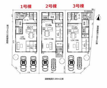 株式会社エールエステート(不動産業) 区画図 配置図(1号棟)