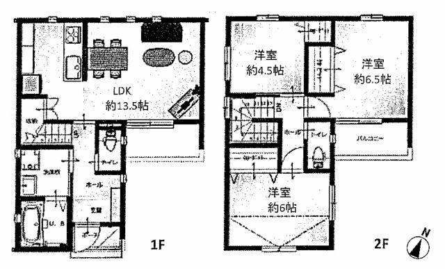 株式会社エールエステート 間取り JR春日駅まで徒歩4分 お車も1台駐車出来ます。