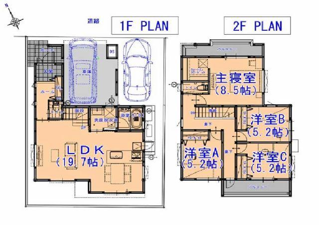 株式会社エールエステート 間取り オール電化住宅です。