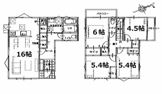 株式会社エールエステート 間取り 金山駅まで徒歩10分 敷地38坪 お車も1台駐車出来ます。