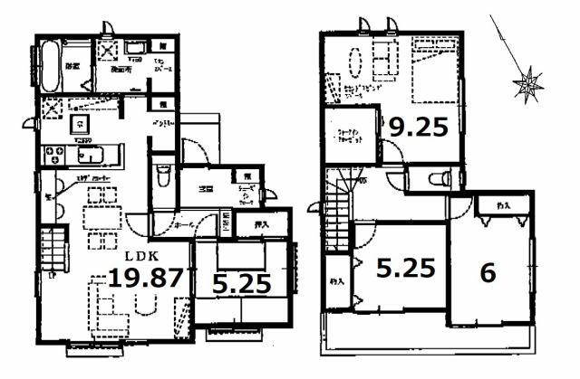 株式会社エールエステート 間取り キッチン横にパンドリー 広々洗面室 人気のリビングin階段です。