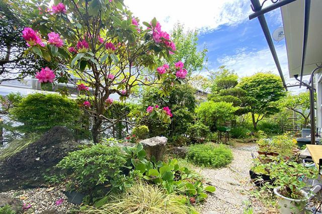 (お庭)家庭菜園やBBQも楽しめる広々お庭です♪晴れた日はお布団やお洗濯物も沢山干せます♪