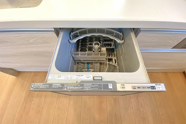(食洗機)家事の時短を叶える食器洗い乾燥機が備え付け
