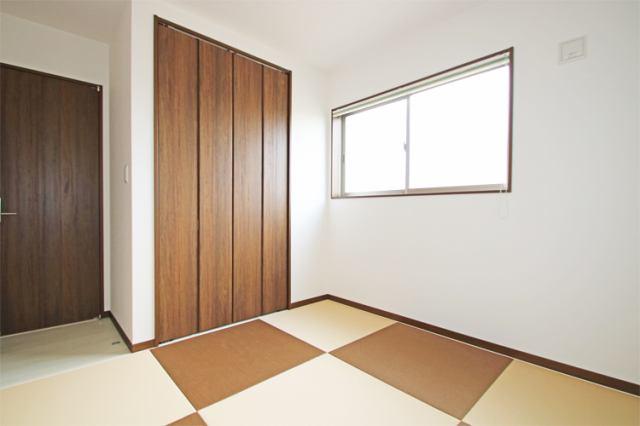 (同仕様・和室)オシャレな琉球調 畳!ツートンカラーでモダンな和室!