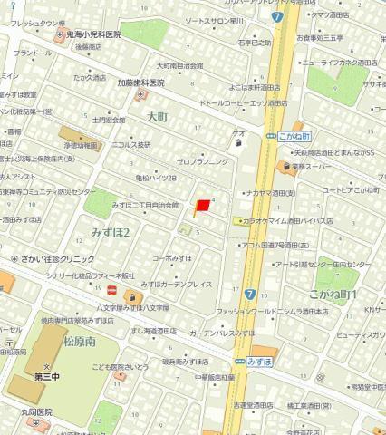 ファミーユみずほ 地図