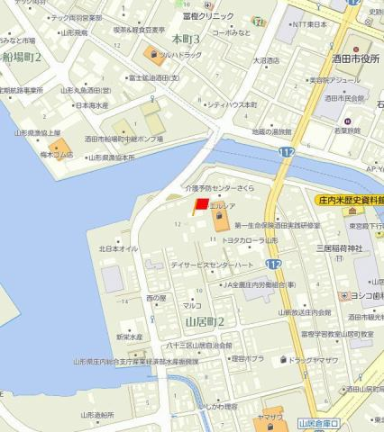 D-room山居A 地図