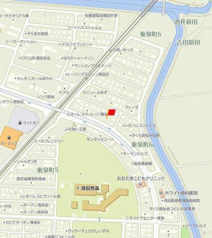 (仮)D-room酒田市東泉町 地図