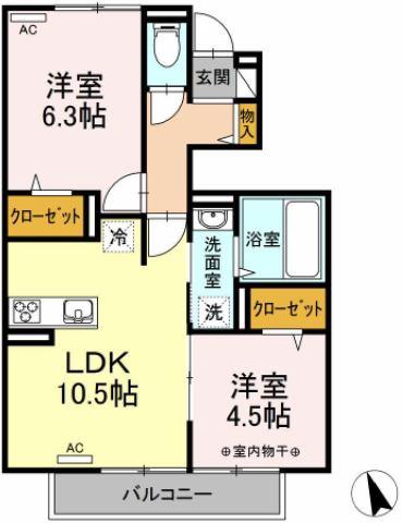 (仮)D-room酒田市東泉町 間取り